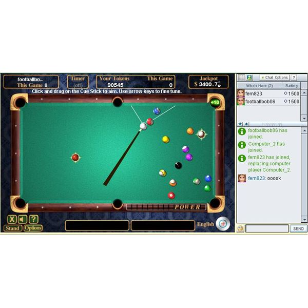 High Stakes Pool one of the best games at pogo.com