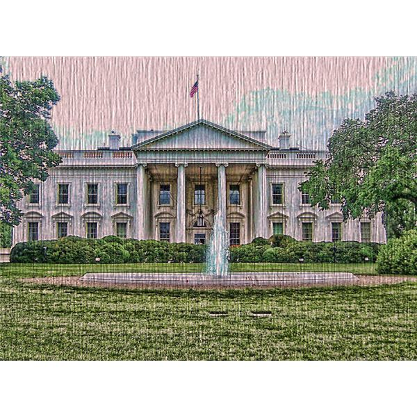 Final White House Photo with Texture