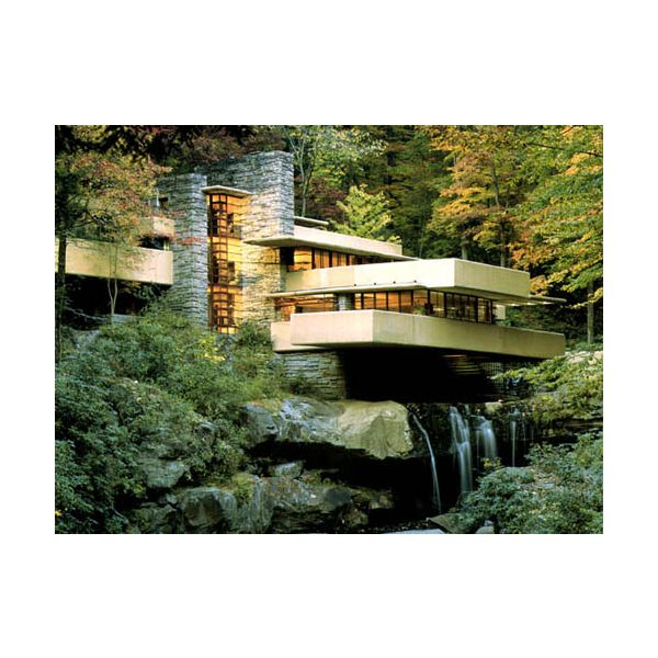 Falling water - inspiration to the organic architecture