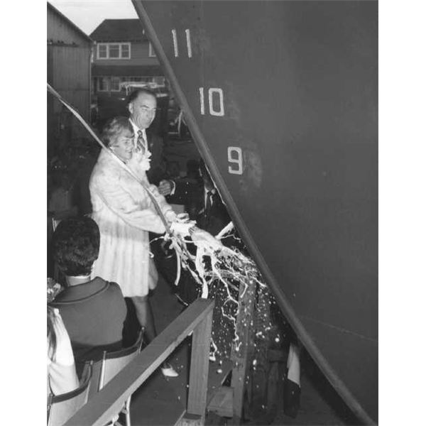 olden tradition of ship naming ceremony