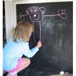 Drawing on vertical surface