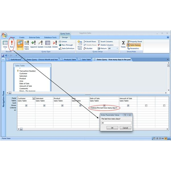 Query for Specified No. of Days