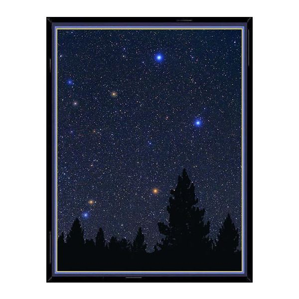 This photo of the constellation Libra shows, enlarged in their true color, the main
