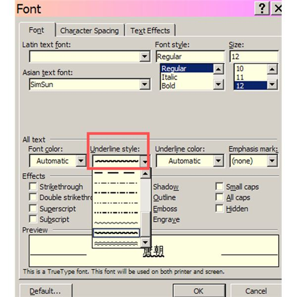 how to make text not appear in microsoft word