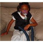 An example of a breathing treatment for a younger Cystic fibrosis patient - GNU Free Documentation License