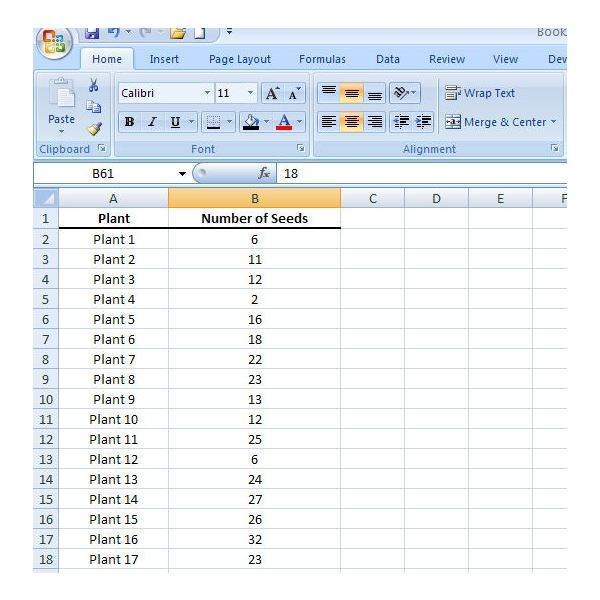 how to create a frequency table in excel