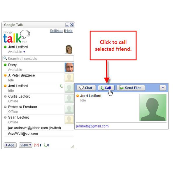 Google Talk Making a Call