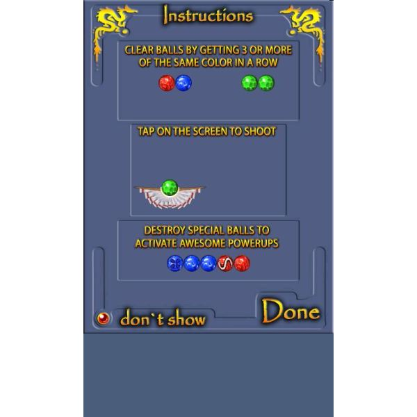 DragonBall game instructions can be viewed