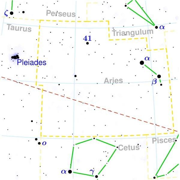 Aries constellation map