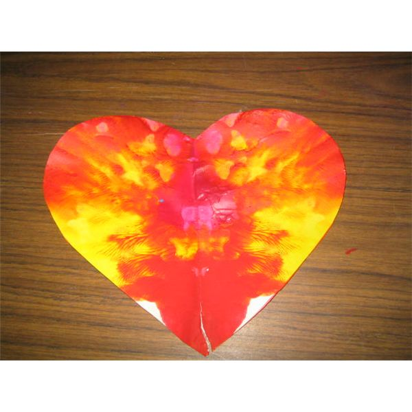 Cut out heart shape