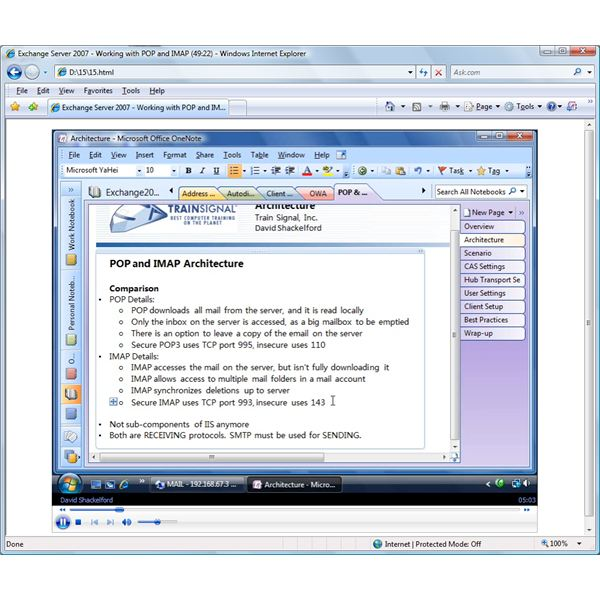 Exchange 2007 Training Video - Configuring POP and IMAP