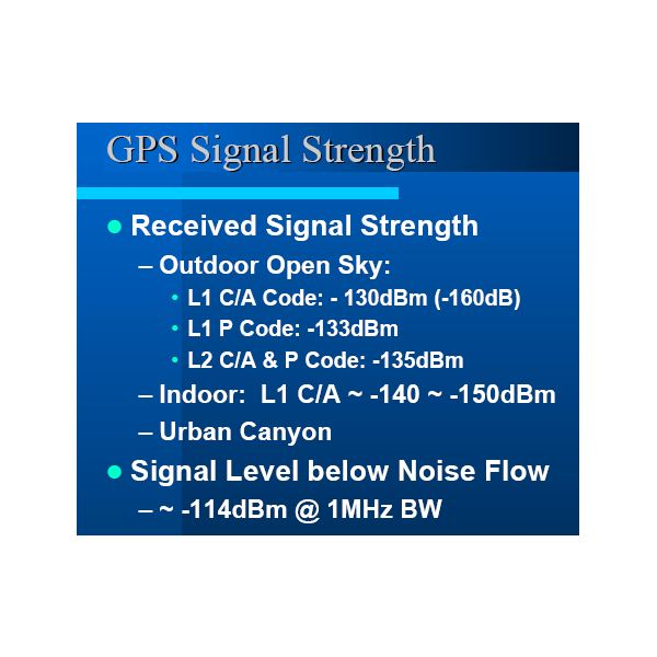 Standard Measurements on a Simple GPS Device