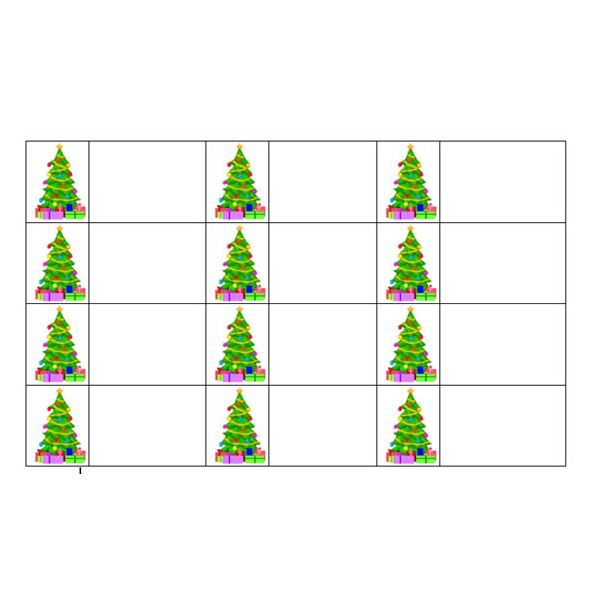 how to create christmas tree gift tags in word