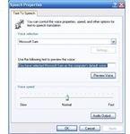 Microsoft Sam in use