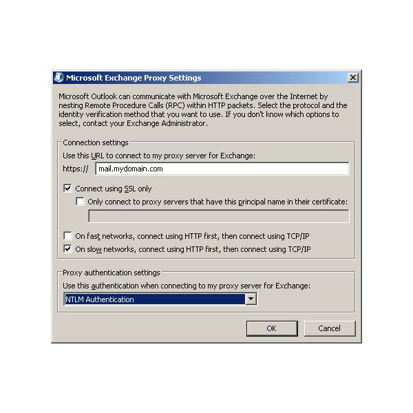 Outlook 2010 Configuration for Exchange 2010 –