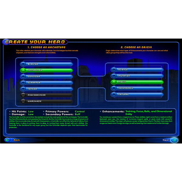 An Introduction to the 'Archetype' for first time City of Heroes and City of Villains players.