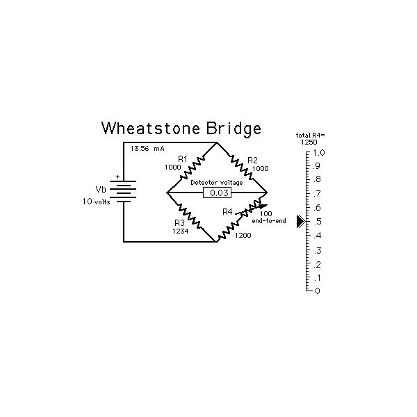 how does a wheatstone bridge work