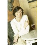 Smiling woman drinking glass of red wine uid 1282349