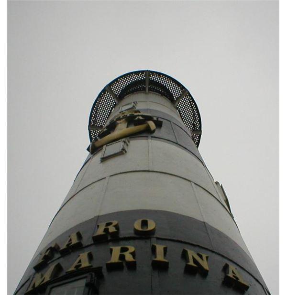 Lighthouse in Miraflores, Peru.