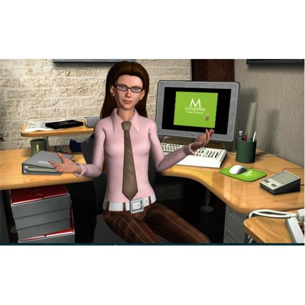 Heather at Her Desk