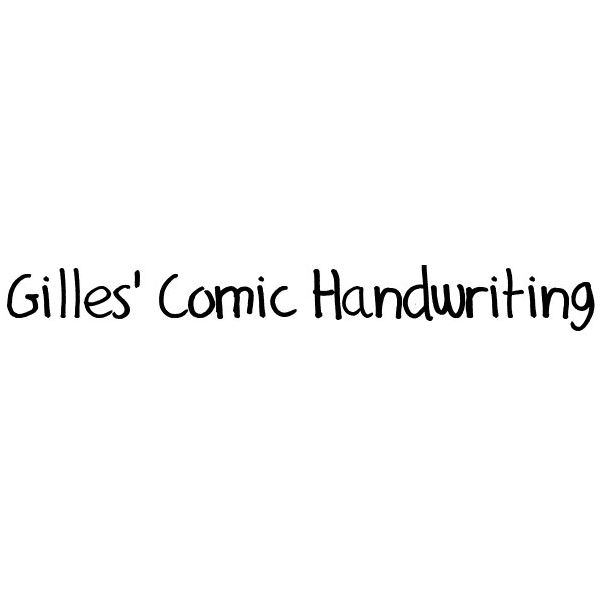 Gilles' Comic Handwriting
