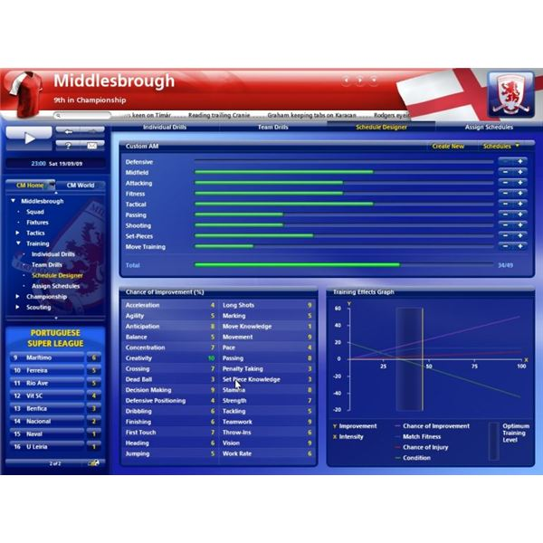 Enhance your players in Championship Manager 2010 with custom training programs