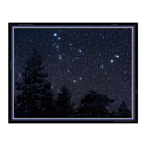 This photo of the constellation Capricornus shows, enlarged in their true color, the main