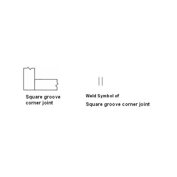 Square groove corner joint