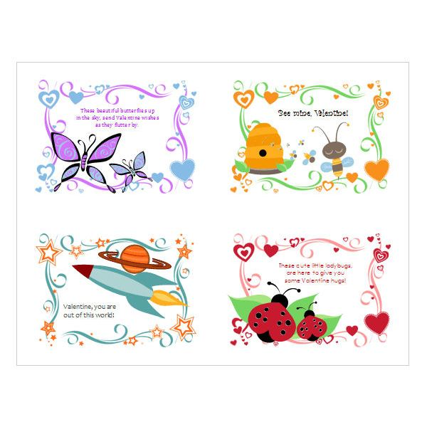 childrens valentine day cards publisher template