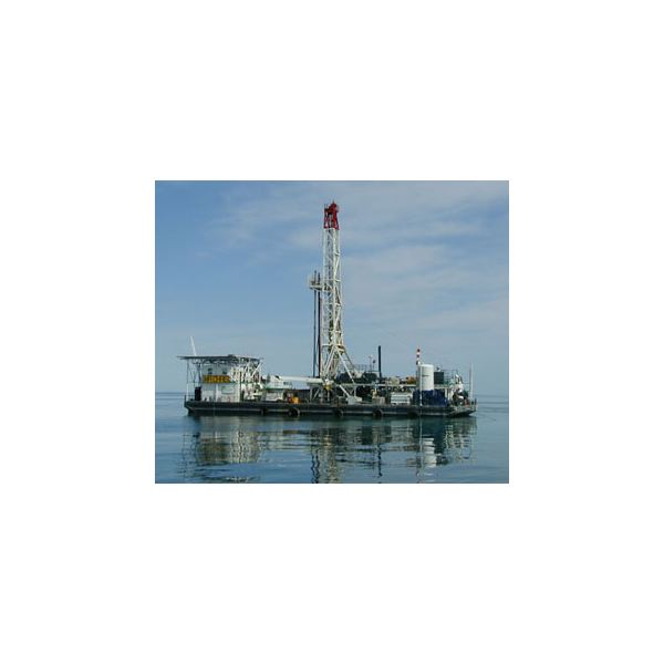 Offshore oil drilling platforms for drilling oil from sea floor