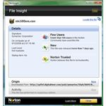 Norton File Insight window