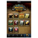 World of Warcraft Mobile Armory Home Screen