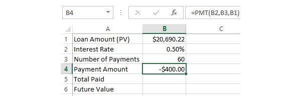 5. Calculating Payment Amount