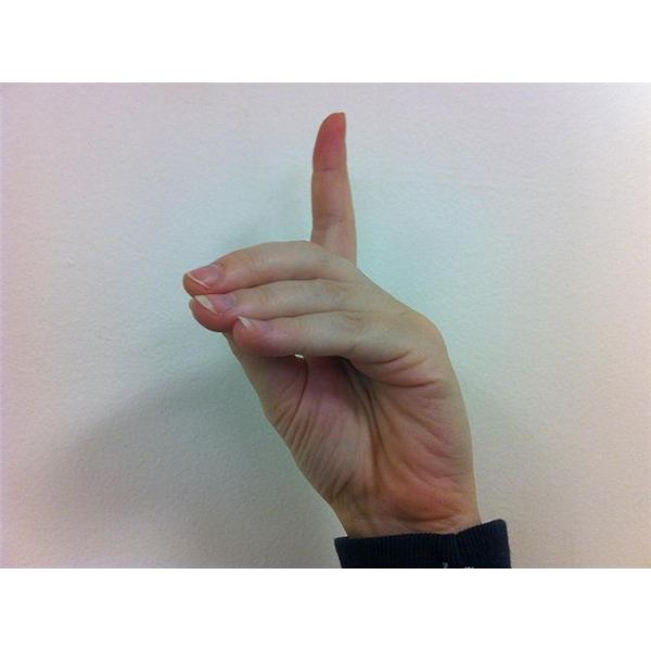 American Sign Language: Fingerspelling D