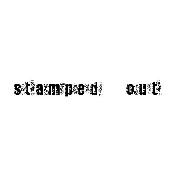 stamp-font-stampedout