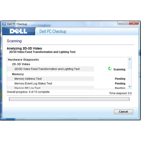 Scanning Using Dell PC Checkup