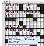 New York Times - Classics Vol. 1 - Crossword Puzzle Display Screenshot