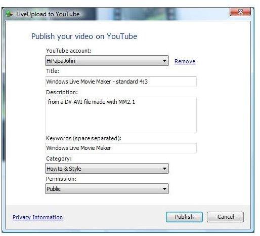 Fill In Video Info