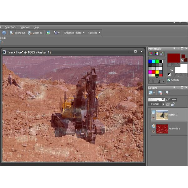 Using Art Media Layer to Give an Aged Look