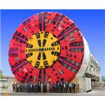 A huge Tunnel Boring Machine used in MAdrid Spain