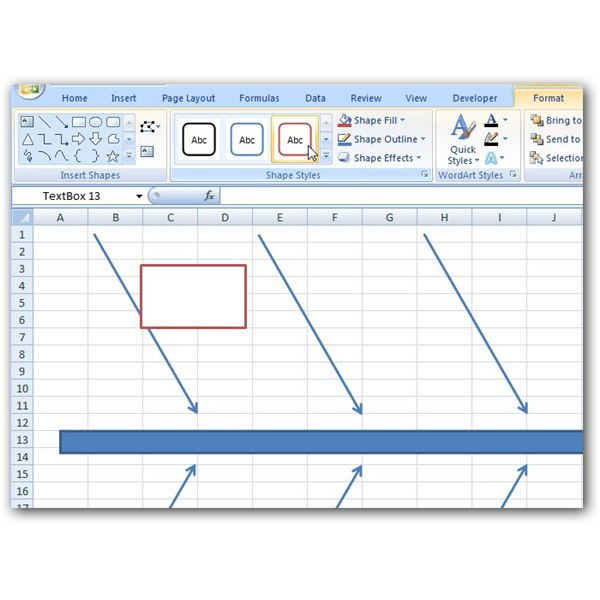Learn to create a fishbone diagram in Excel