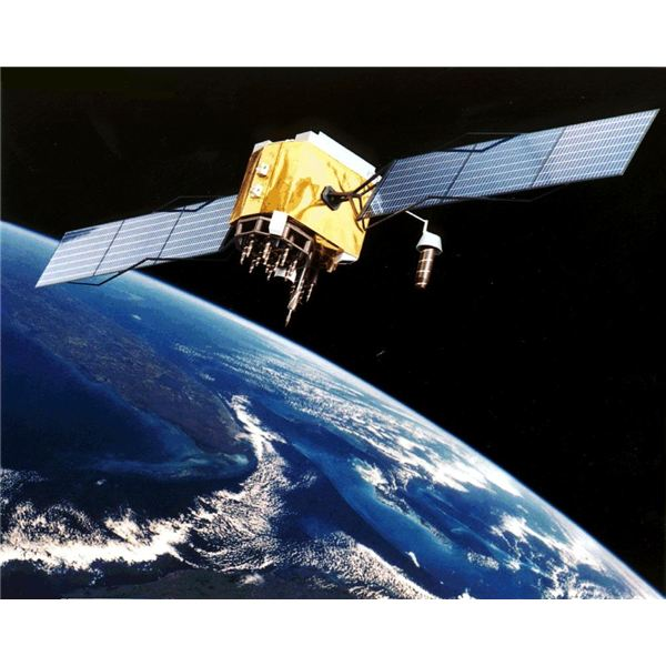 Artist's Conception of a GPS Satellite in Orbit