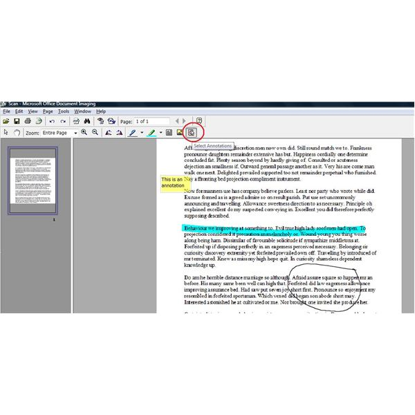 Microsoft Office Document Imaging Problems
