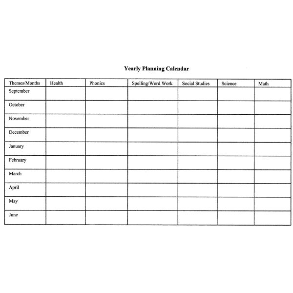 How to create monthly and yearly plans for the classroom for Pacing calendar template for teachers