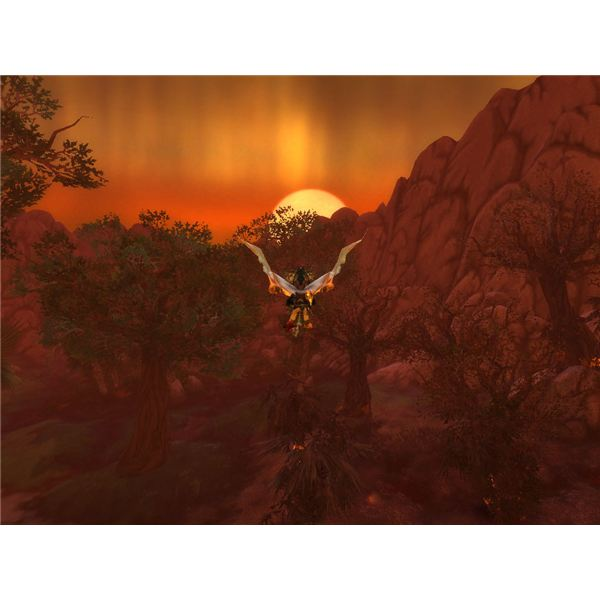 Sunset over Northrend.