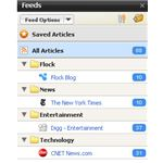 Flock Browser Review - feeds