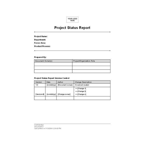 report format in word