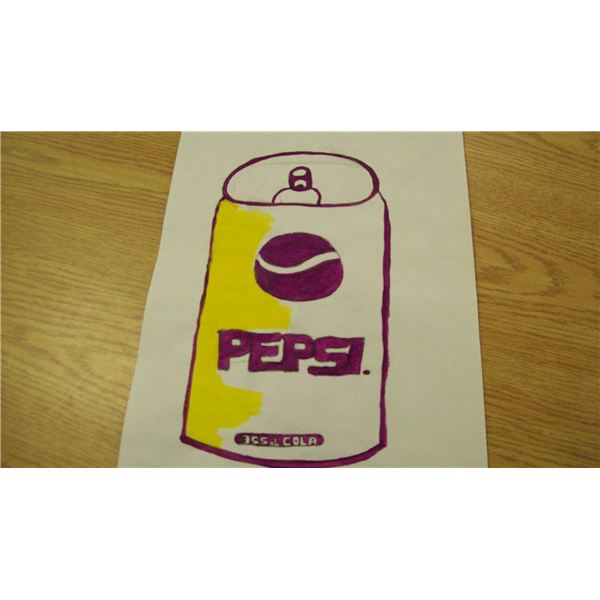 Pepsi in purple and yellow