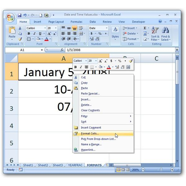 how to change date formats in microsoft excel: format excel date to