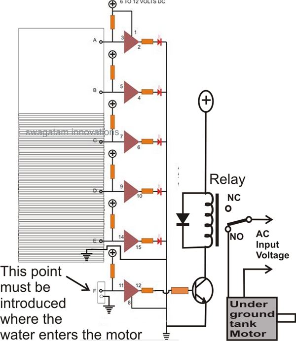 68342 Build This Simple Electronic Water Level Controller on 5 wire relay wiring diagram